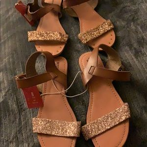 Mossimo Women's Sandals 8 Tan Brown NWT